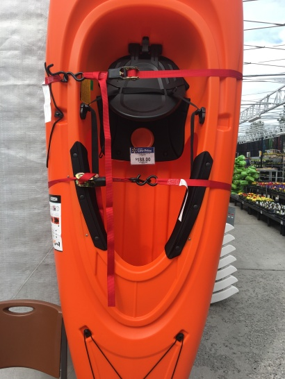 "This kayak normally retails for $349 under another brand name. Cabelas usually sells said model on sale for $199. I like to picture them using them whack-a-mole hammers and hitting eachother on the metaphorical ""profit head""."